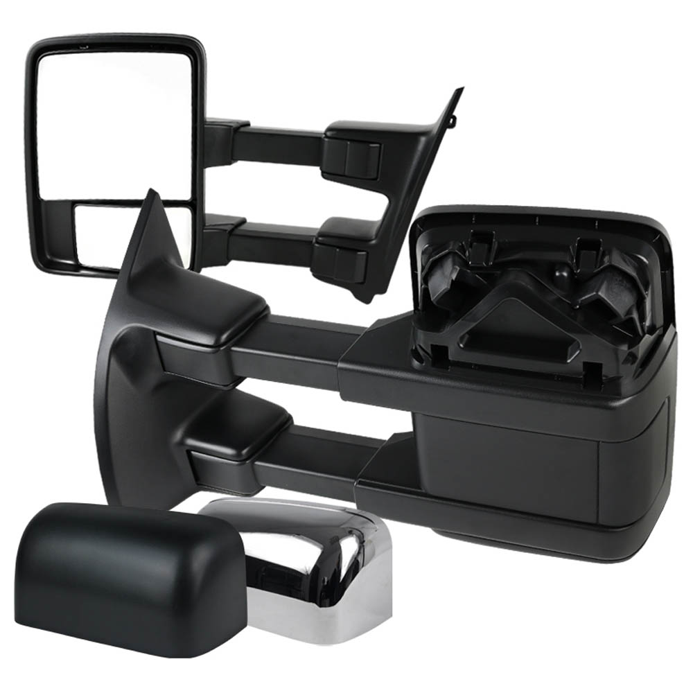 CHROME TOWING MIRRORS- POWER, F250 08-10