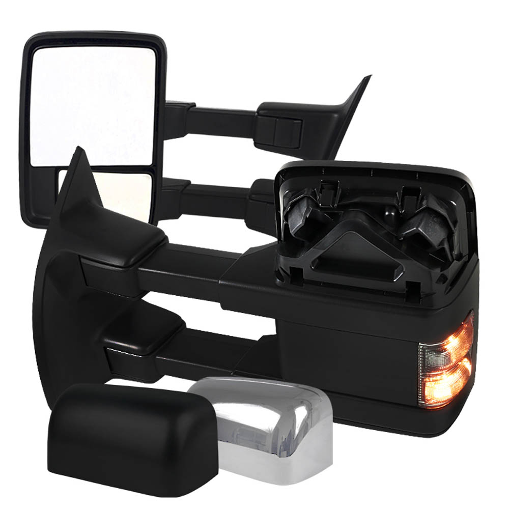 CHROME TOWING MIRRORS- POWER, WITH TURN SIGNAL, F250 08-10