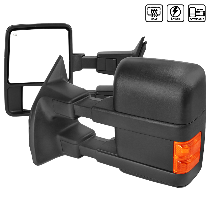 TOWING MIRRORS- POWER HEATED LED, F250 08-18