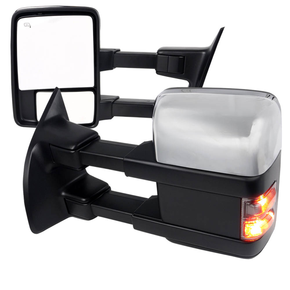 CHROME TOWING MIRRORS- POWER, HEATED, F250 11-15