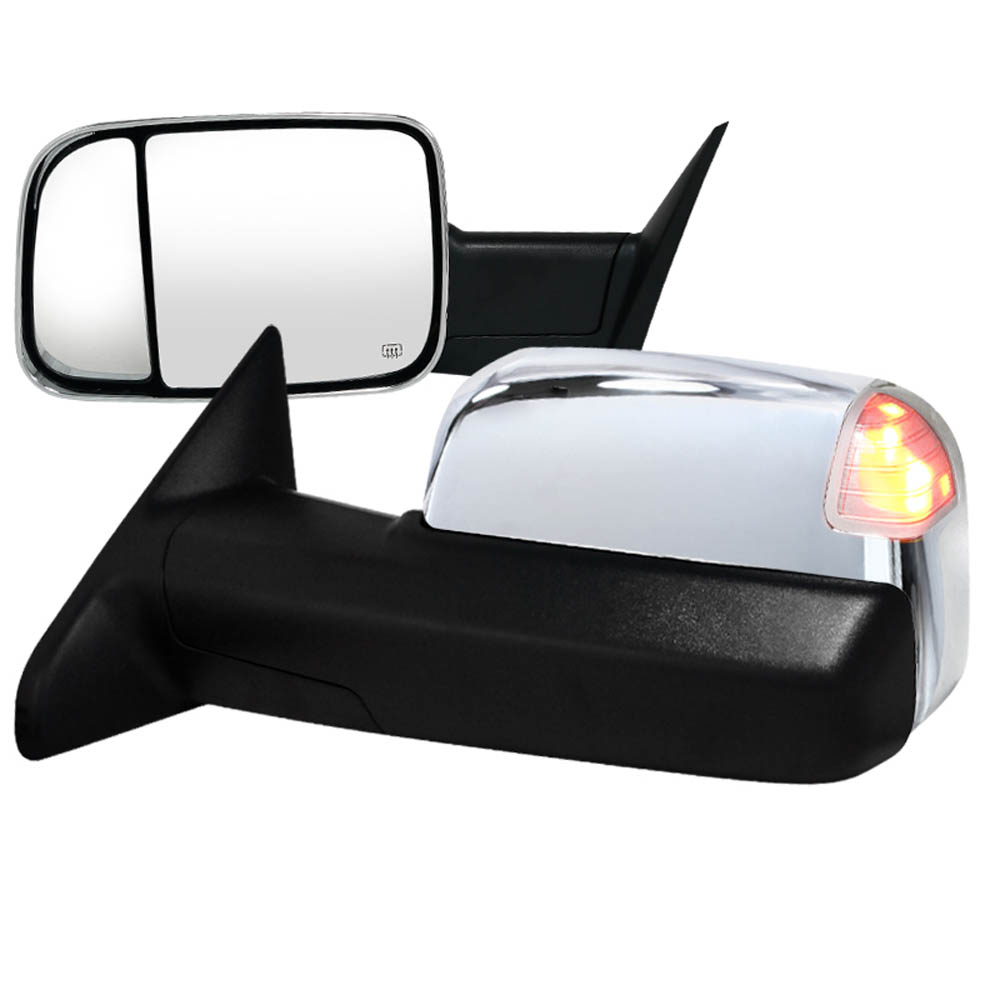 HEATED TOWING MIRRORS POWER CHROME WITH MEMORY, RAM 12-