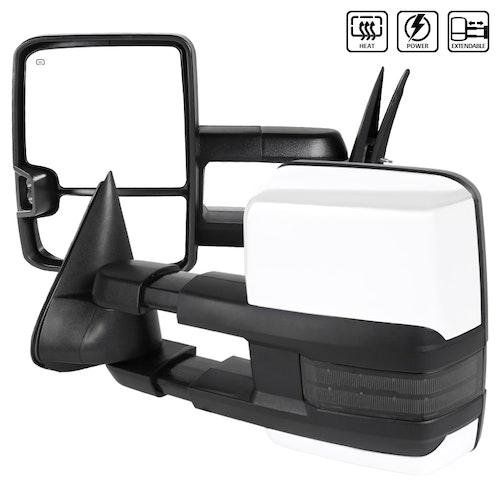 Towing Mirrors - Silverado 2003-2006, Krom/Smoke. LED, El-fällbara, El-uppvärmning
