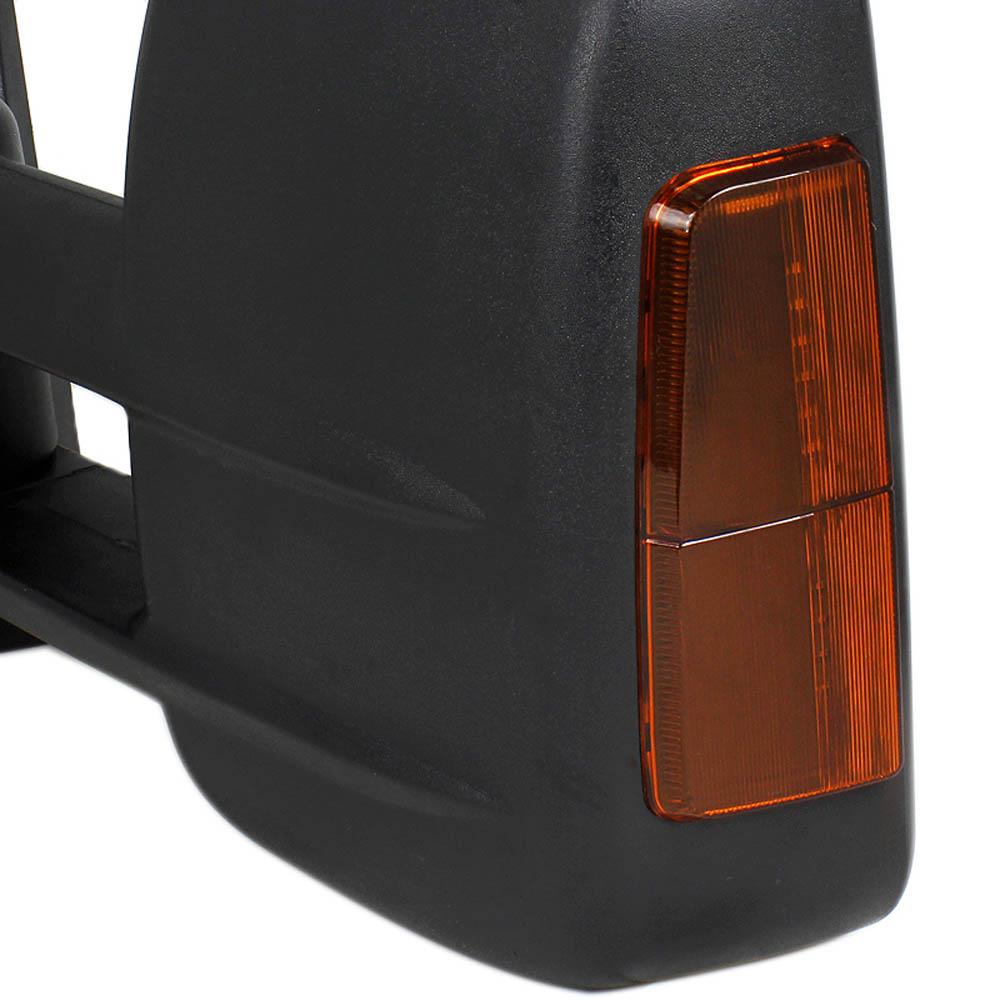 Towing Mirrors - Svart. Smoke/Amber-LED, El-fällbara, Defrost. Silverado 2007-2013