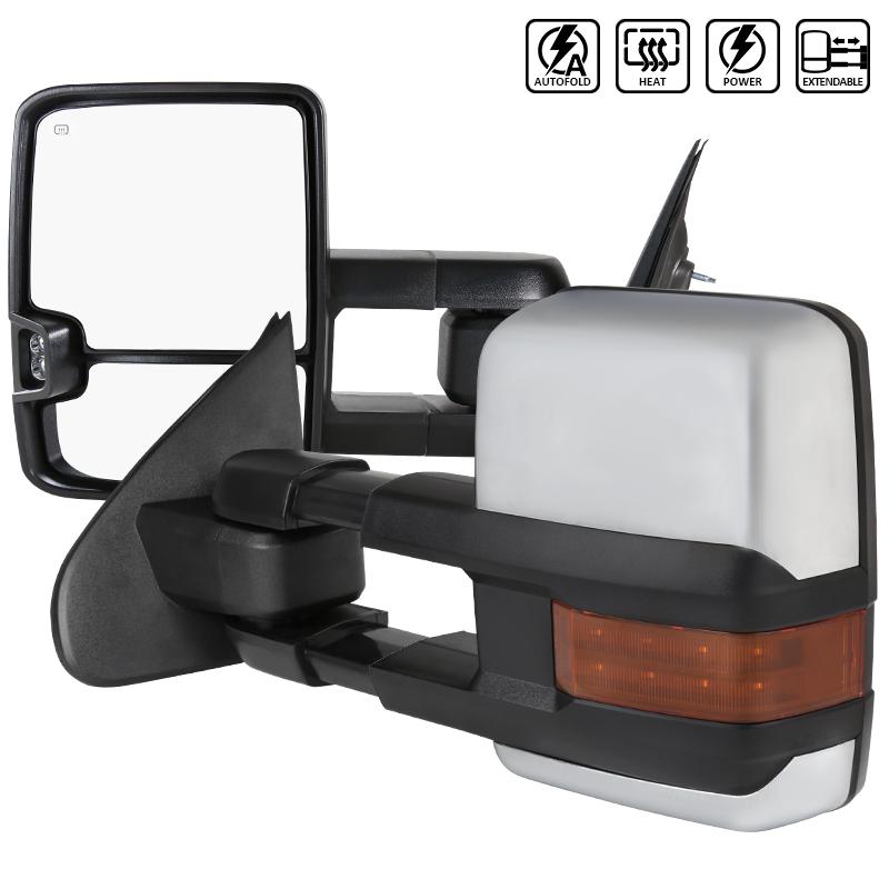Towing Mirrors , Krom. LED, El-fällbara, Defrost. Silverado 2014-2018