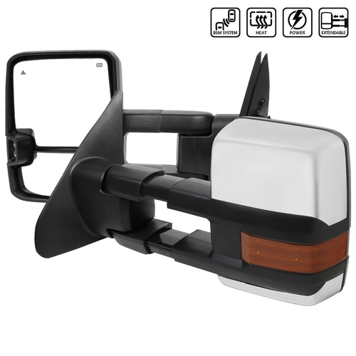 TOWING MIRRORS CHROME- POWER HEATED LED, Tundra 07-17