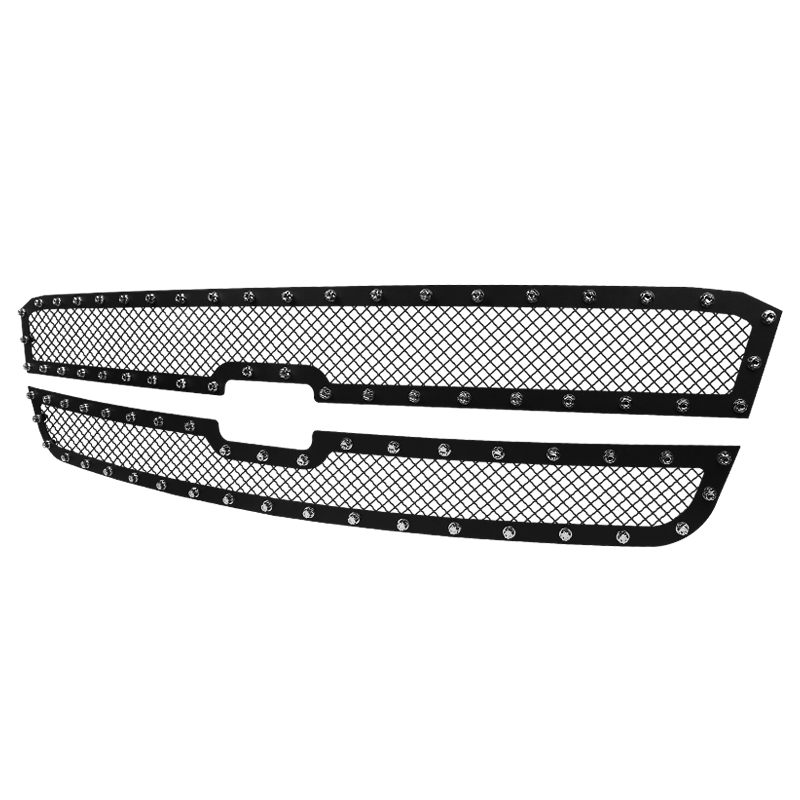 GRILLE INSERT - RIVET STYLE - STEEL/BLACK - NO BODY CLADDING, Avalanche 03-06