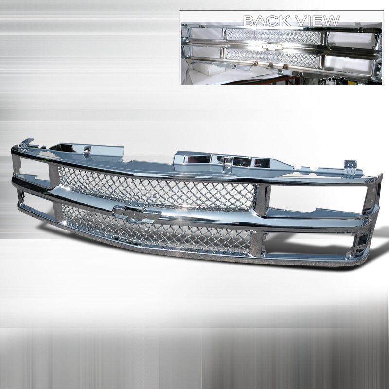 VERTICAL GRILL CHROME, C10 94-99