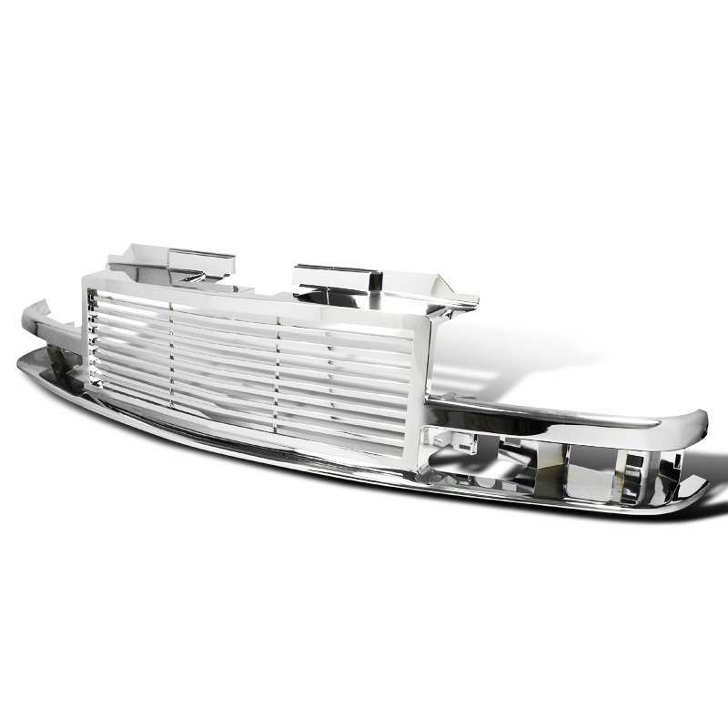 FRONT GRILL  CHROME, S10 98-02