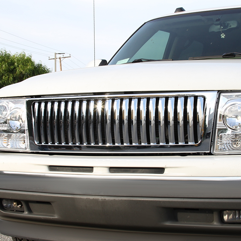 VERTICAL FACELIFT CONVERSION GRILL - CHROME (ONLY FITS WITH SPEC-D 1PC STYLE HEADLIGHT ONLY, DOES NOT FIT STOCK HEADLIGHTS), Silverado 99-02