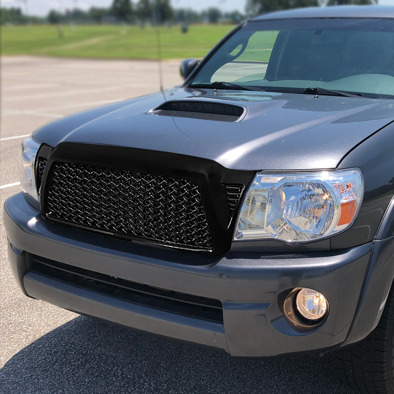 FRONT MESH GRILLE- GLOSSY BLACK, Tacoma 05-11