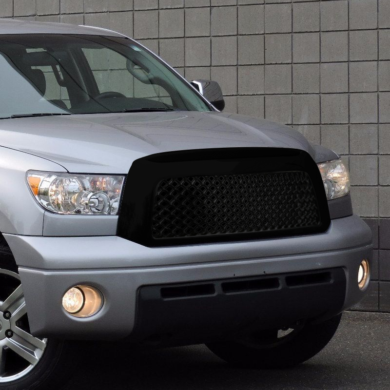 FRONT MESH GRILLE- GLOSSY BLACK, Tundra 07-09