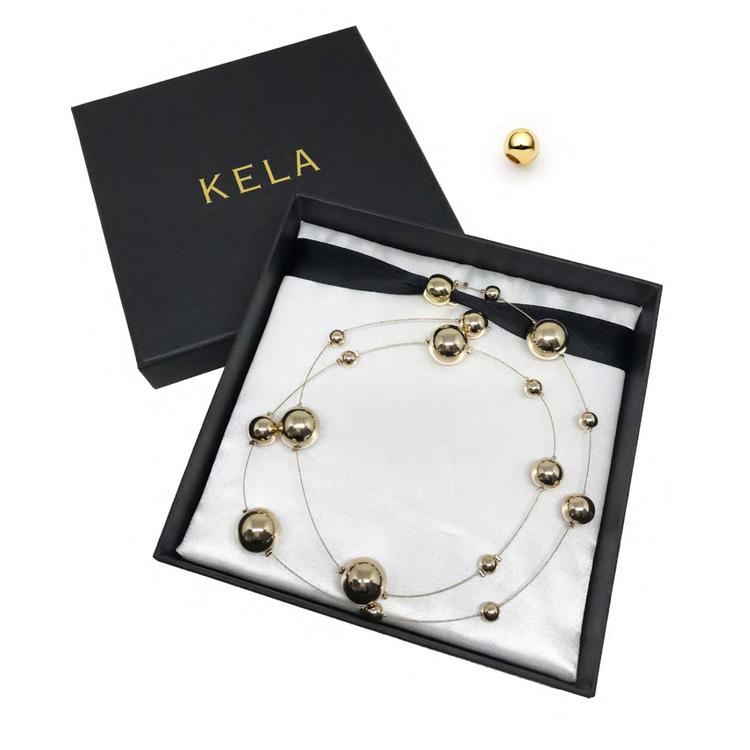 Hårsmycke Gold Ball Strand - KELA