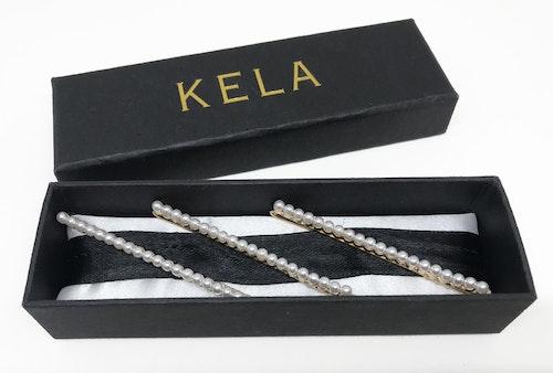 Hårspänne Gold & Pearl (Long) - KELA