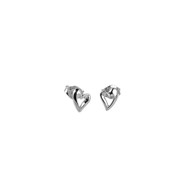 Finnfeelings Örhänge hjärtformad