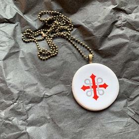Necklace in ceramics /keramikhalsband