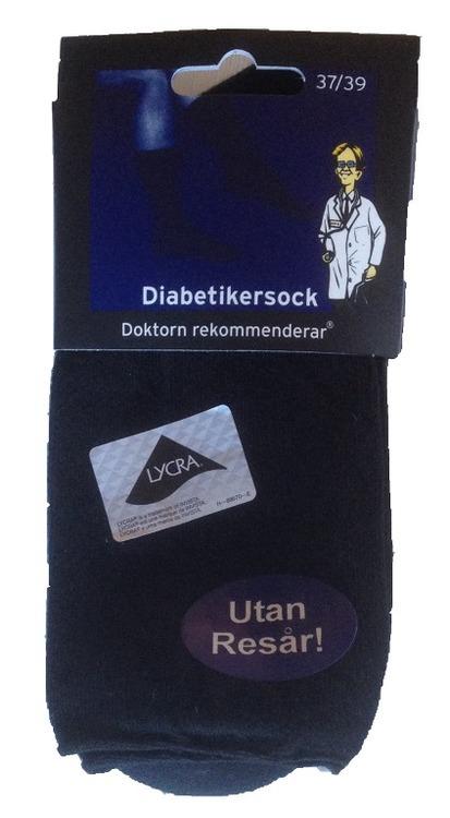 Diabetikersocka utan resår