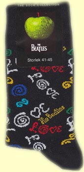 Ankelsocka med Beatlesmotiv Love
