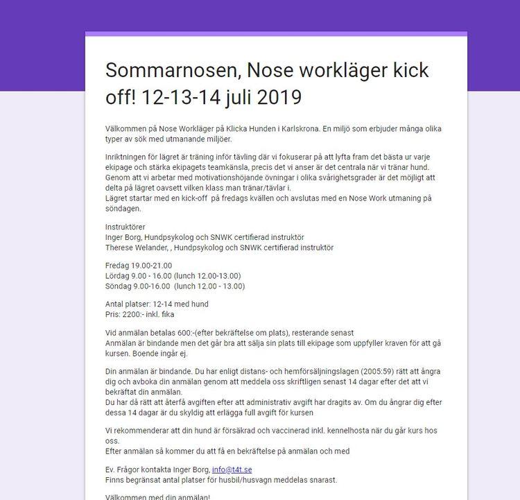 CL |Sommarnosen NW Läger Kick Off! - Fredagen 12/7 2019
