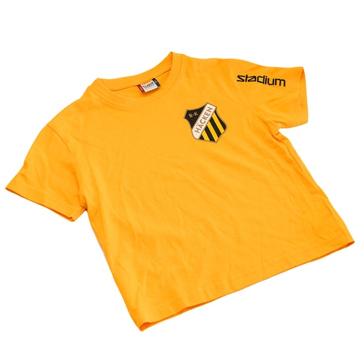 Gul t-shirt Junior (med tryck)