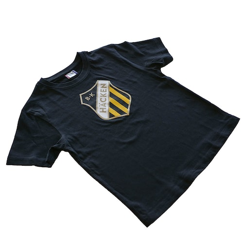 T-shirt Svart med emblem Junior