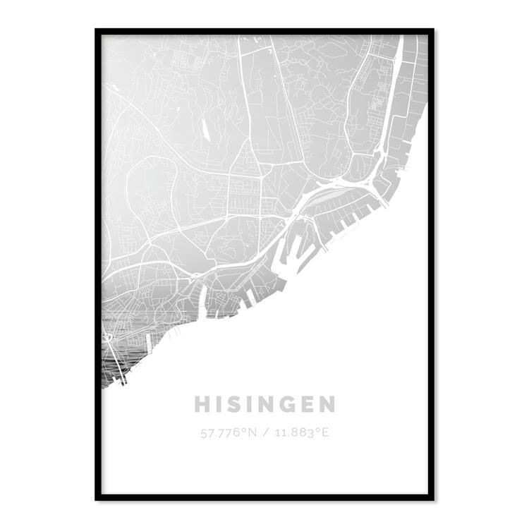 Poster Karta Hisingen