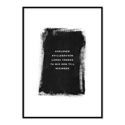 Poster Kärleken (svartvit)