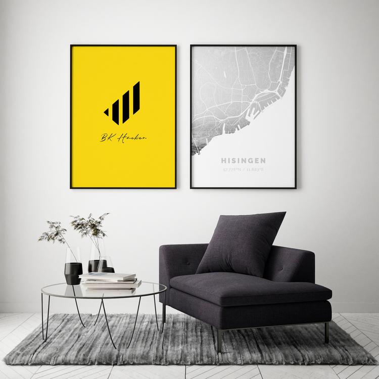Poster Sköld (gulsvart)