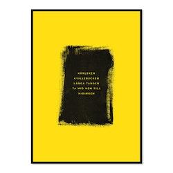 Poster Kärleken (gulsvart)