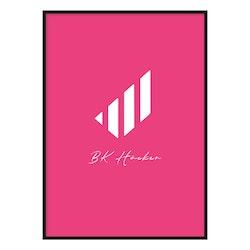 Poster Sköld (rosa)