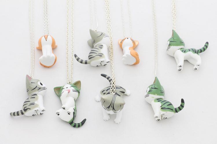 Kawaii-katter, hängen på kedja