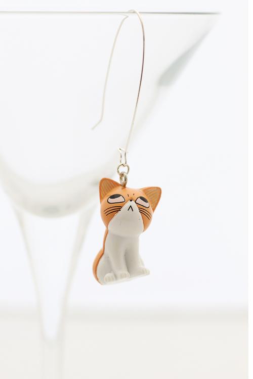 Kawaii-katt, örhänge