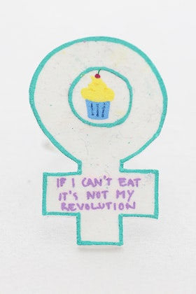 """If I can't eat it's not my revolution"", ring"