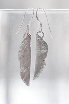 Silverlöv, örhängen