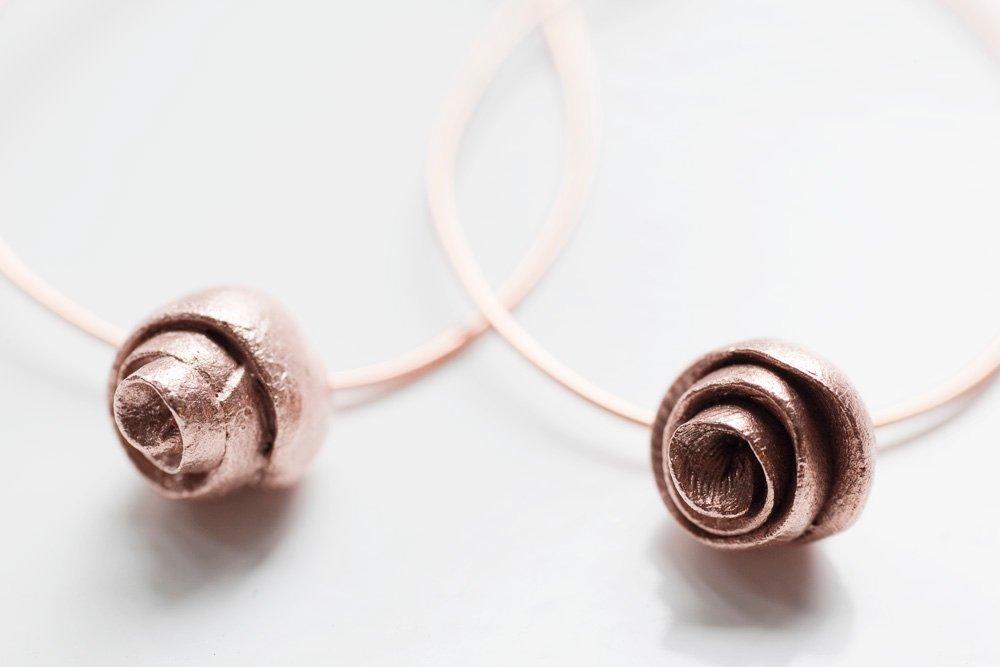 Kopparrosor, örhängen