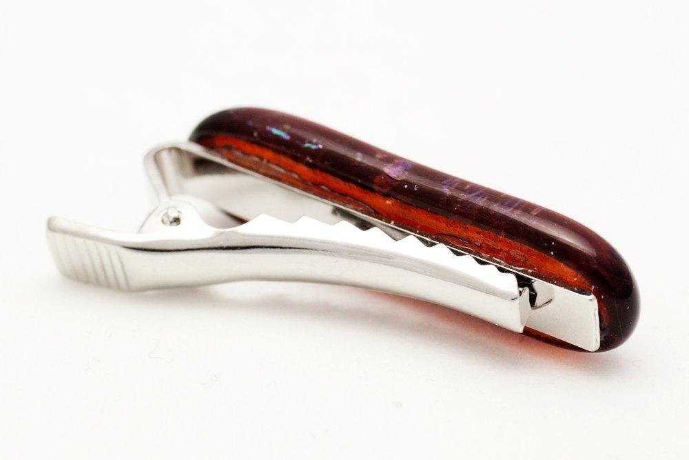 Slipsnål av handgjort glas i rött