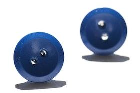 Blå knappar, örstickare
