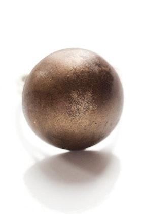 Bronsfärgad knapp, ring