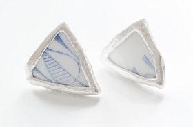Retroporslin och silver, örstickare