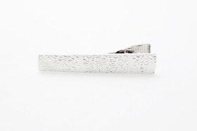 Mönstrad silver, slipsnål