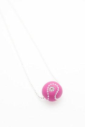 Pärla i rosa och silver på kedja