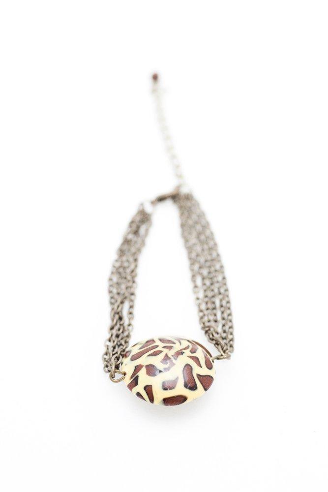 Leopardmönstrad pärla, armband