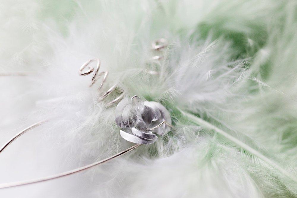 Hårdekor i grönt, vitt och silver