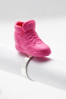 Sneakers i rosa, ring