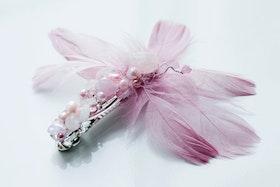 Rosa hårspänne