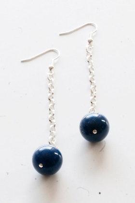 Blå pärlor, örhängen