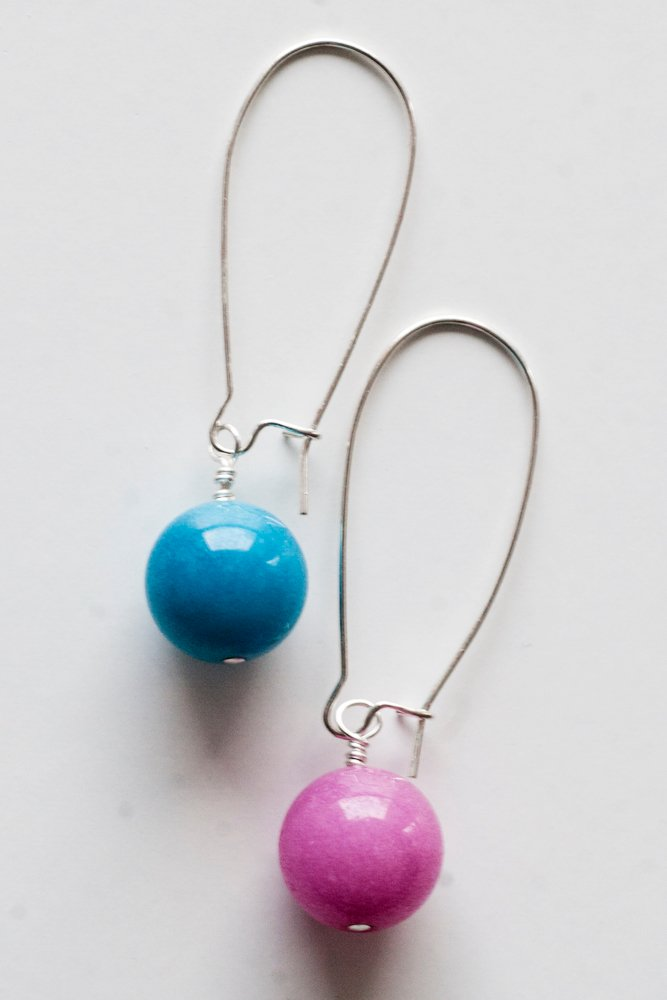 Turkos och rosa örhängen