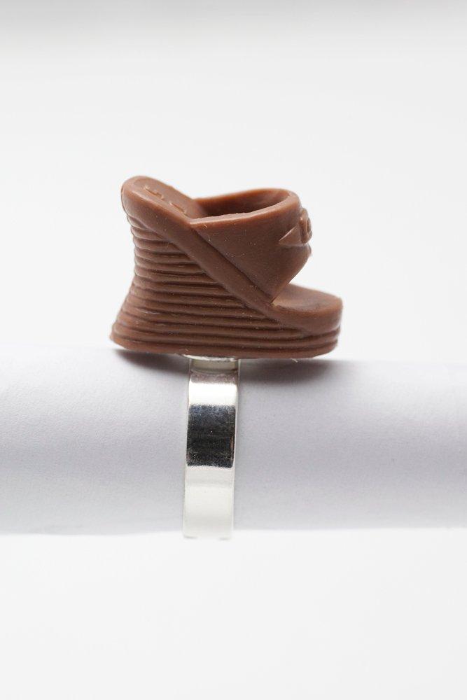 Kilklackar i brunt, ring