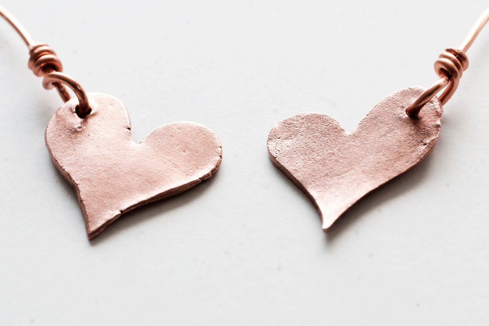 Kopparhjärtan, örhängen