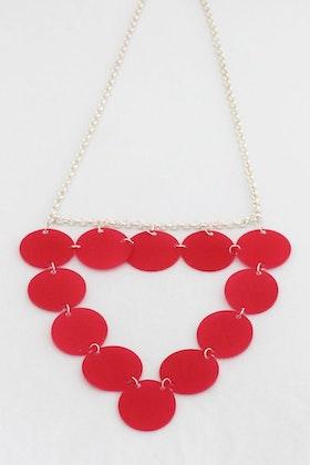 Rosa triangel, halsband