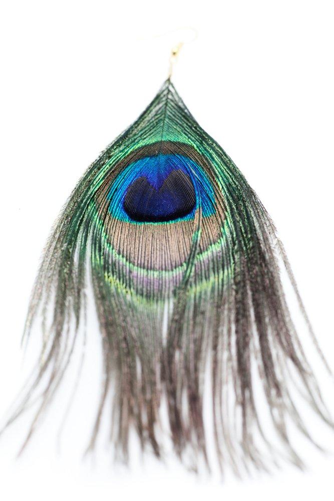 Fjäder på örhänge